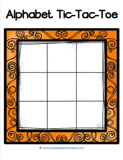 Alphabet Tic-Tac-Toe - Orange - Alphabet Games