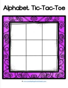 Alphabet Tic-Tac-Toe - Purple - Alphabet Games