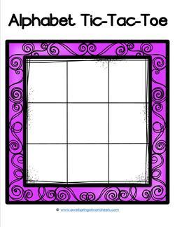Alphabet Tic-Tac-Toe - Purple - Alphabet Games