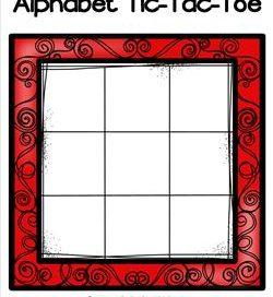 Alphabet Tic-Tac-Toe - Red - Alphabet Games
