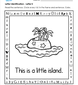 Letter Identification - Letter I - Kindergarten Alphabet Worksheets