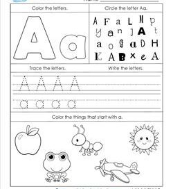 ABC Worksheets - Letter A - Alphabet Worksheets