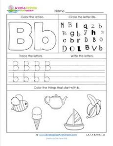 ABC Worksheets - Letter B - Alphabet Worksheets