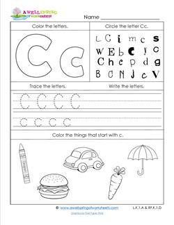 ABC Worksheets - Letter C - Alphabet Worksheets