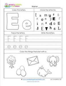 ABC Worksheets - Letter E - Alphabet Worksheets