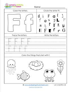 ABC Worksheets - Letter F - Alphabet Worksheets