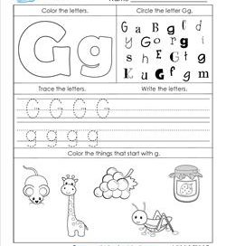 ABC Worksheets - Letter G - Alphabet Worksheets