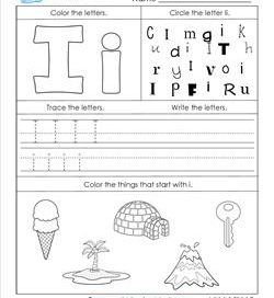 ABC Worksheets - Letter I - Alphabet Worksheets