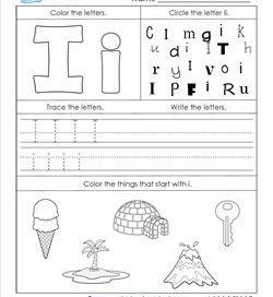 Alphabet Worksheets - Letter Worksheets for Kindergarten