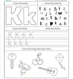 ABC Worksheets - Letter K - Alphabet Worksheets