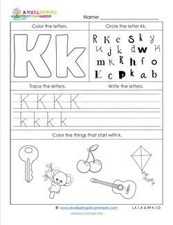 ABC Worksheets - Letter K - Alphabet Worksheets