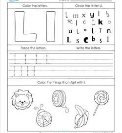 ABC Worksheets - Letter L - Alphabet Worksheets