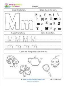 abc worksheets letter m alphabet worksheets a wellspring. Black Bedroom Furniture Sets. Home Design Ideas