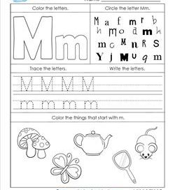 ABC Worksheets - Letter M - Alphabet Worksheets