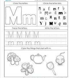 ABC Worksheets - Letter M - Alphabet Worksheets