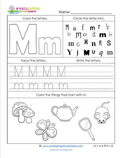 ABC Worksheets - Letter M - Alphabet Worksheets | A Wellspring