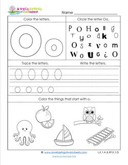 ABC Worksheets - Letter O - Alphabet Worksheets