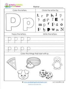 ABC Worksheets - Letter P - Alphabet Worksheets