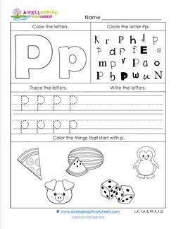 ABC Worksheets - Letter P - Alphabet Worksheets