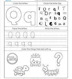 ABC Worksheets - Letter Q - Alphabet Worksheets