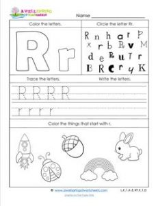 ABC Worksheets - Letter R - Alphabet Worksheets