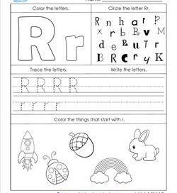 ABC Worksheets - Letter R - Alphabet Worksheets