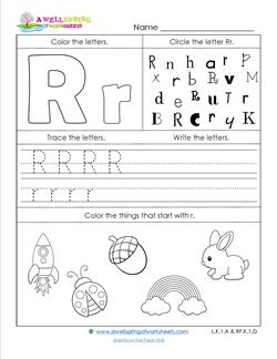 letter writing worksheet