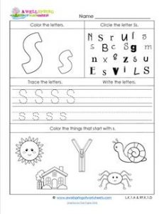 ABC Worksheets - Letter S - Alphabet Worksheets