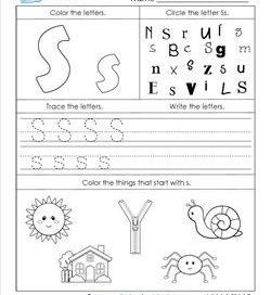 ABC Worksheets - Letter S - Alphabet Worksheets