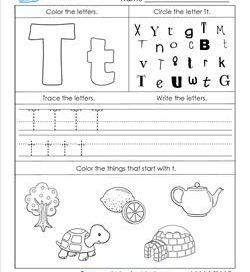 ABC Worksheets - Letter T - Alphabet Worksheets