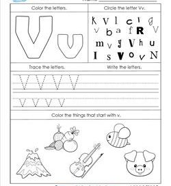 ABC Worksheets - Letter V - Alphabet Worksheets