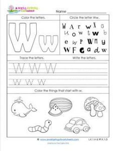 ABC Worksheets - Letter W - Alphabet Worksheets