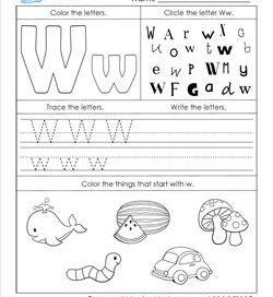 ABC Worksheets - Letter W - Alphabet Worksheets