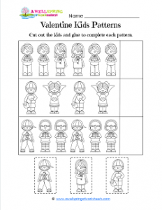 Valentine Kids Patterns - Valentines Printables