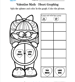 Valentine Math - Heart Graphing - Valentines Day Math