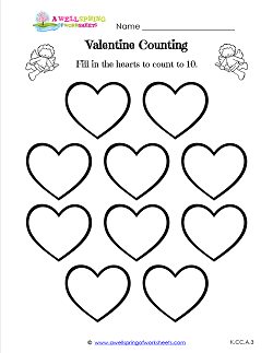 Valentine Counting 10 Hearts