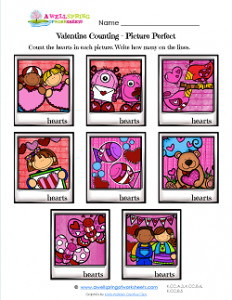 Valentines Day Worksheets - Picture Perfect - Valentine Math