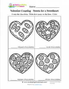 Valentines Day Worksheets - Sweets for a Sweetheart - Valentine Math