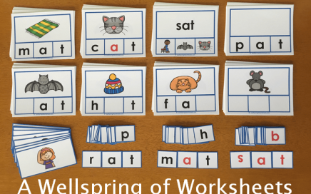 CVC Word Clip Cards - What's Included in Each CVC Word Family
