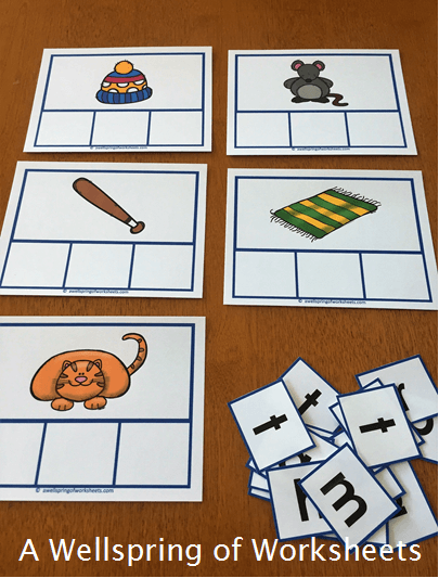 CVC Word Clip Cards - Pictures for the CVC Words without Any Letters
