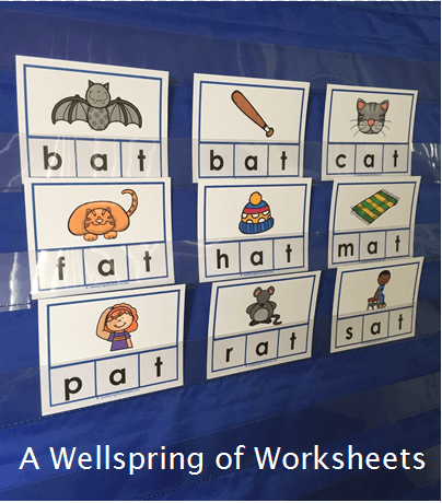 CVC Word Clip Cards - Pictures and Words