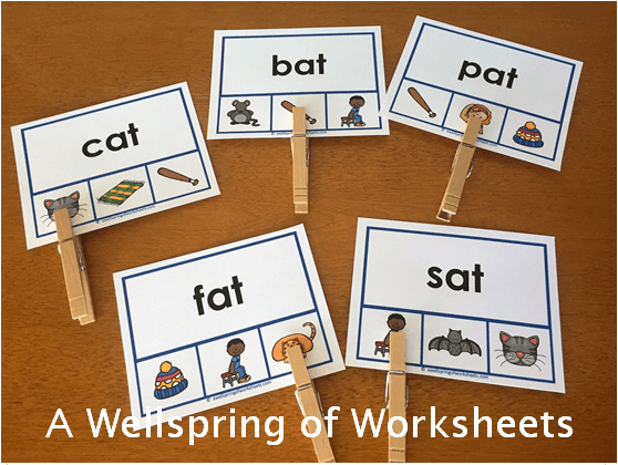 CVC Word Clip Cards - CVC Words with Three Pictures