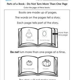 Parts of a Book - Do Not Turn More Than one Page