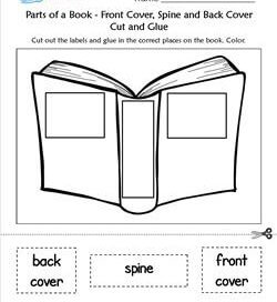 parts of a book kindergarten language arts a wellspring of worksheets. Black Bedroom Furniture Sets. Home Design Ideas