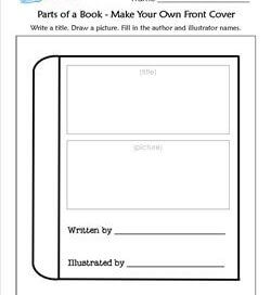 Parts of a Book - Make Your Own Front Cover