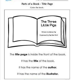 Parts of a Book - Title Page