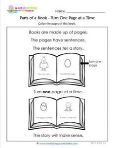 Parts of a Book - Turn One Page
