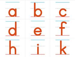 Print Awareness - Tall, Small and Fall Letters - Orange