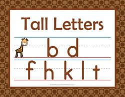 Print Awareness - Tall, Small and Fall Letters - Posters