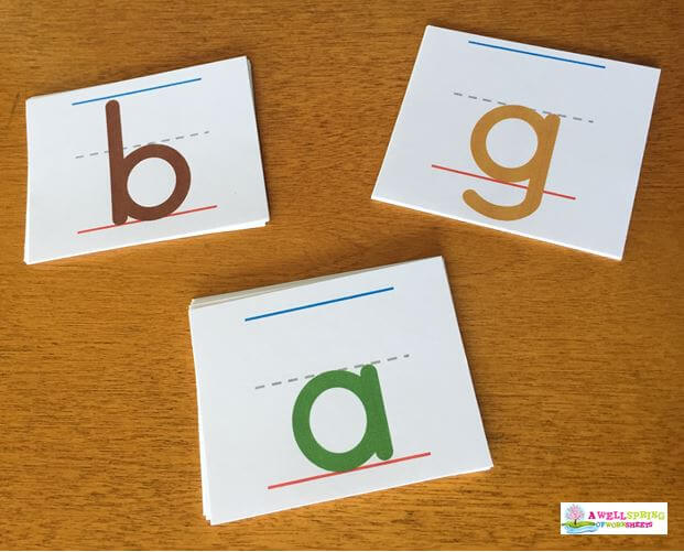 Tall, Small and Fall Letters - Color-Coded Letters